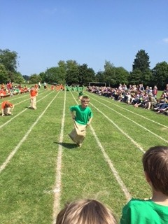 Alfie-in-sack-race