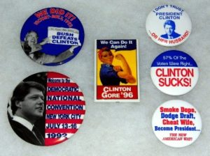 clinton political badge