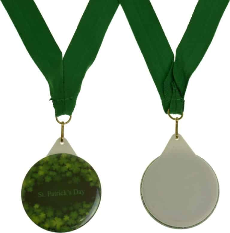 Custom Medal with Ribbon Sets- Green