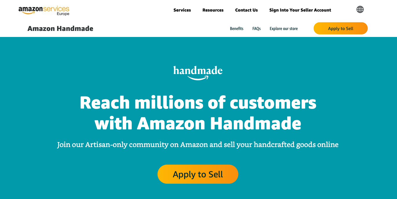 amazon handmade website screenshot