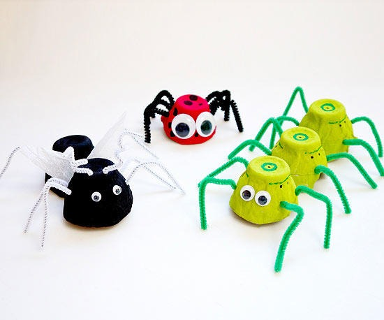 egg carton bug home crafts idea