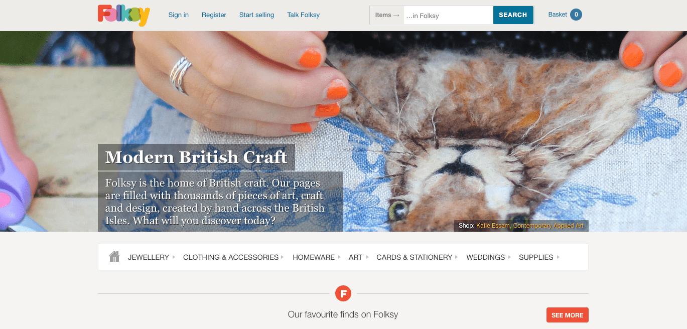 folksy website screenshot