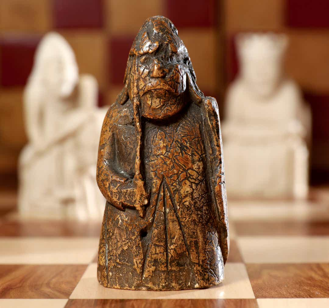 medieval chess piece auctioned at Sotheby's