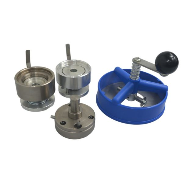 Die set and blue circle cutter for use with Maxi badge machine
