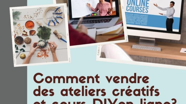 Screenshot of French blog post heading promoting arts and crafts