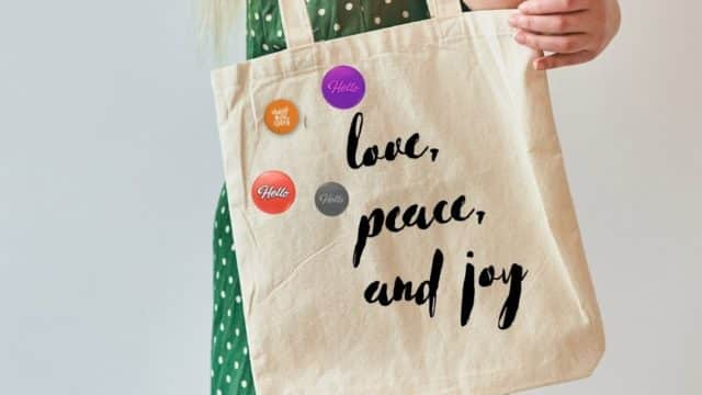 Button Badges And Tote Bags To Make The Planet Happier